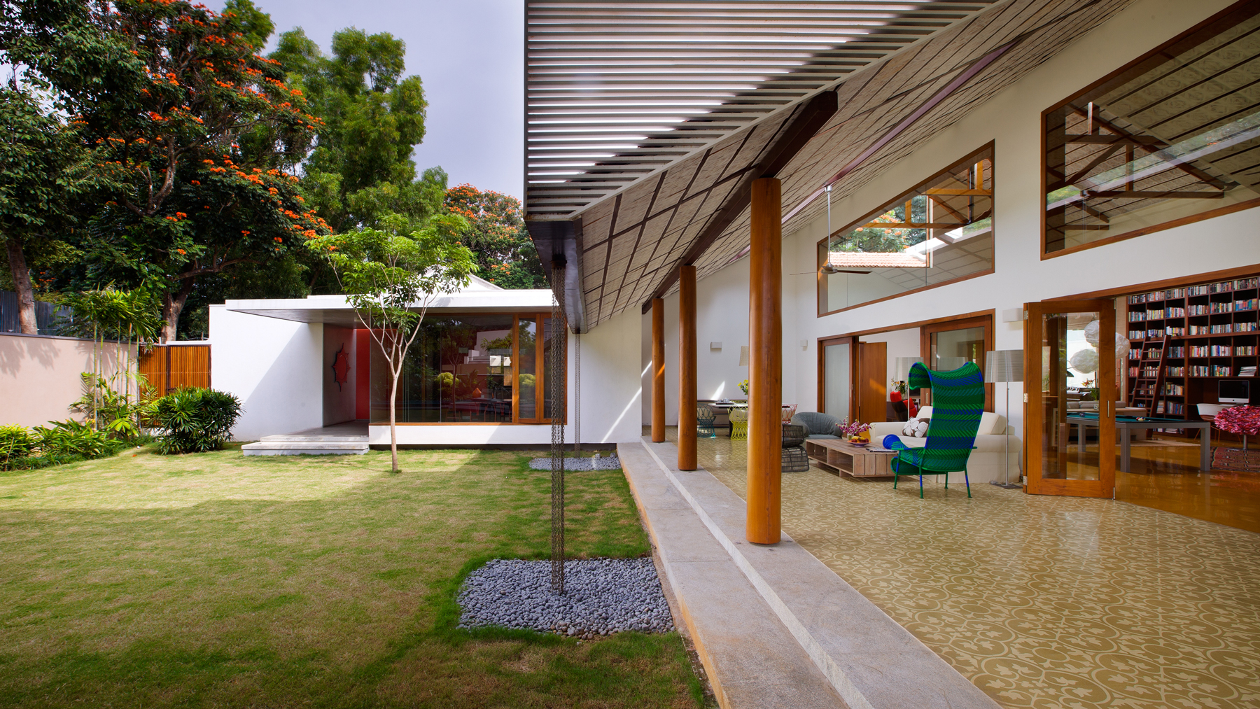 The library house khosla associates architecture interiors