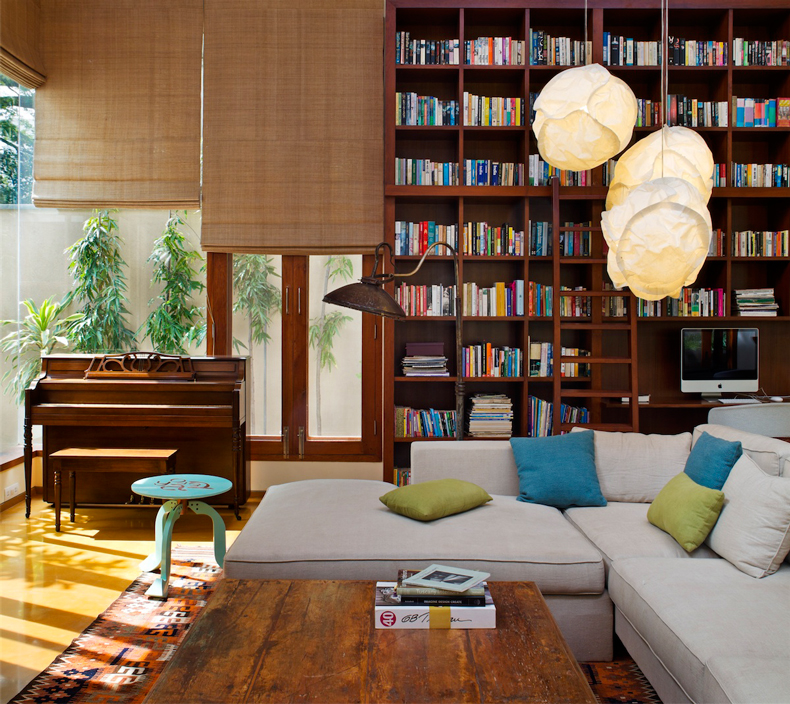 Each room in the house tells a distinct story creates a specific setting while linking to an overarching architectural narrative. & The Library House | Khosla Associates \u2013 architecture + interiors